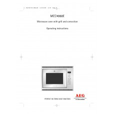 AEG MCC 4060 EA Combi Microwave Built-in