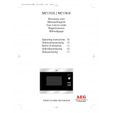 AEG MC 1761 EM Solo Built-in Microwave