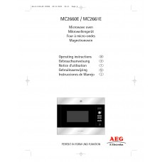 AEG MC 2660 EA Solo Built-in Microwave