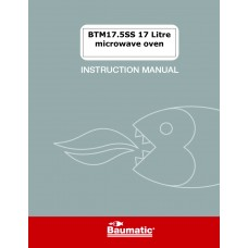 Baumatic BTM17.5SS Solo Microwave