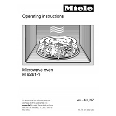 Miele M 8160-1 BK Solo Built-in Microwave