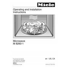 Miele M 8260-1 BK Solo Built-in Microwave